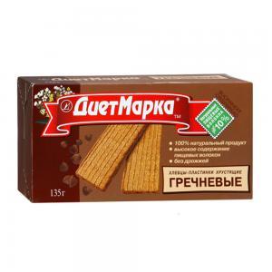 Хлебцы-пластинки гречневые хрустящие, ДиетМарка (135 г)