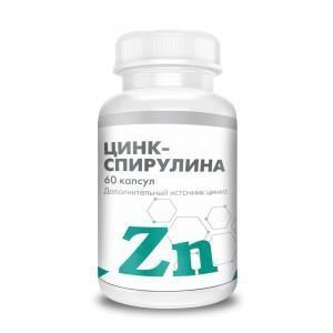 Цинк-спирулина (60 кап)