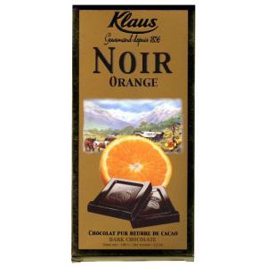 Горький шоколад с апельсином, Klaus Франция (100г)
